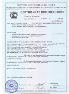 Добровольный сертификат  соответствия